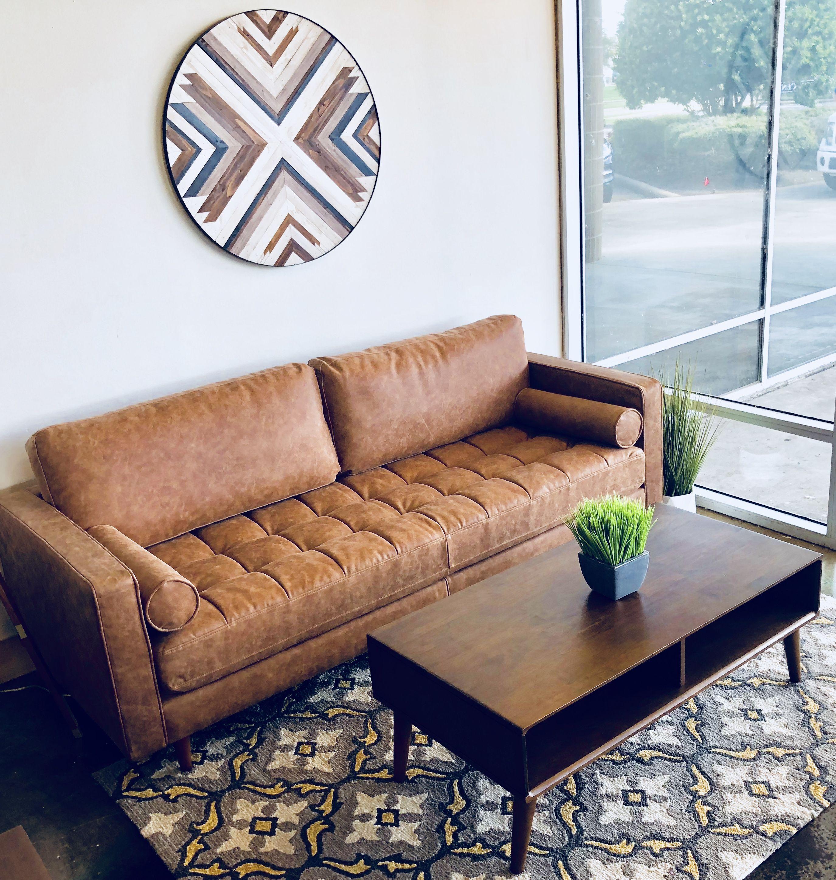 Mid Century Modern Leather Sofa In Katy Texas By Midinmod ...