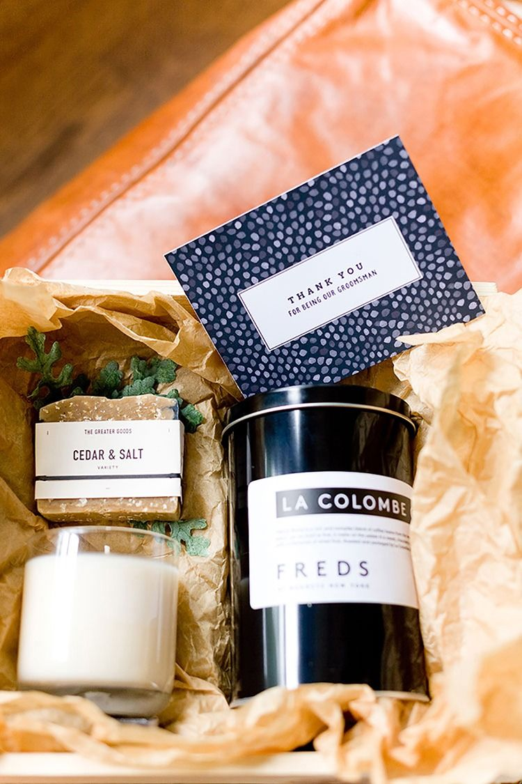 Fathers day groomsmen gift boxes with free printables