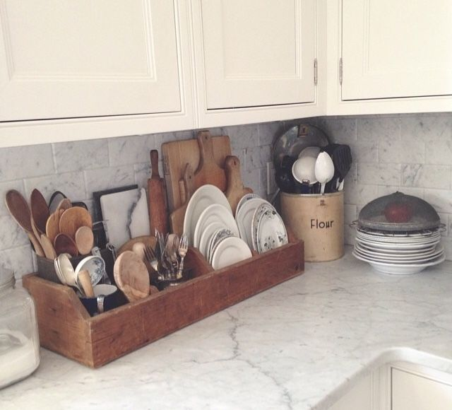 This Is The Wooden Crate Organizer On My Counter Love