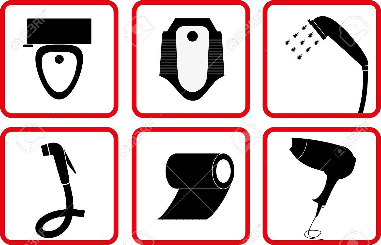 10434049 Toilet and Bathroom Accessory icon set Stock. 10434049 Toilet and Bathroom Accessory icon set Stock Vector