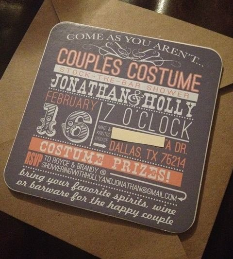 Wedding Invitation Innovative Ideas: COASTER Invitations For The Couples-costume-stock-the-bar