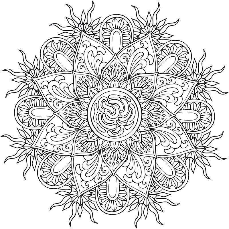 coloriage mandalas | MANDALA | Pinterest | Mandalas, Colorier et ...
