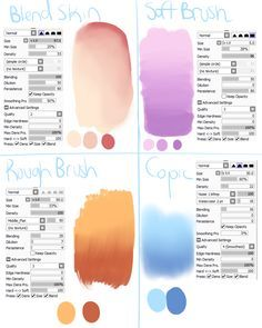 Sai Brush Settings 1 By Skyflamia On Wysp Character Design