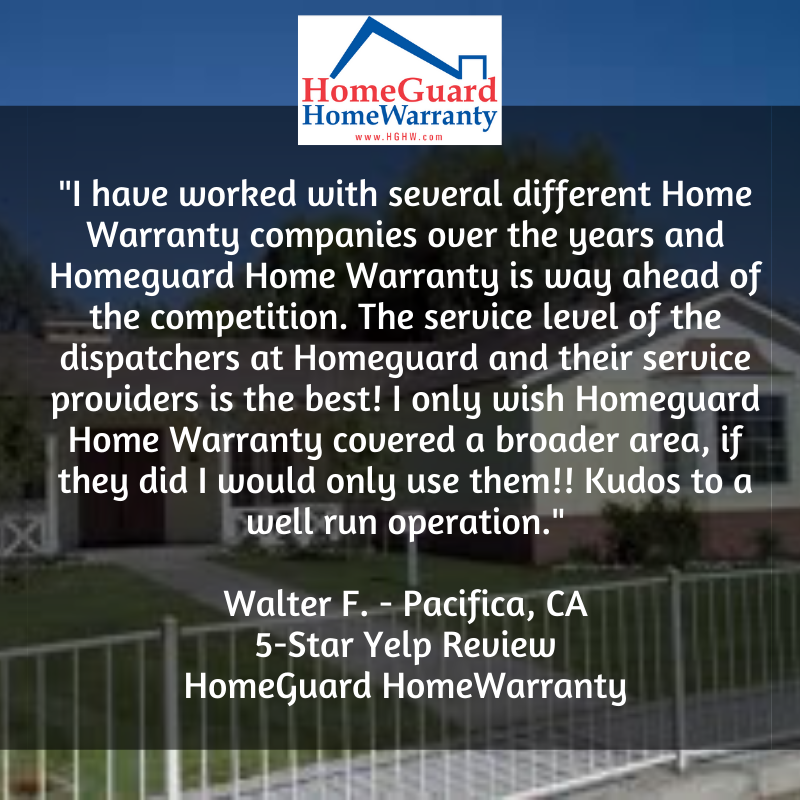 What A Great Review Walter We Re So Happy To Get Such A Glowing Review From Someone That Has Experie Home Warranty Home Warranty Companies Best Home Warranty