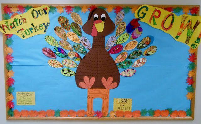 Snippets 'N Stuff: Kindergarten Bulletin Board for November #novemberbulletinboards