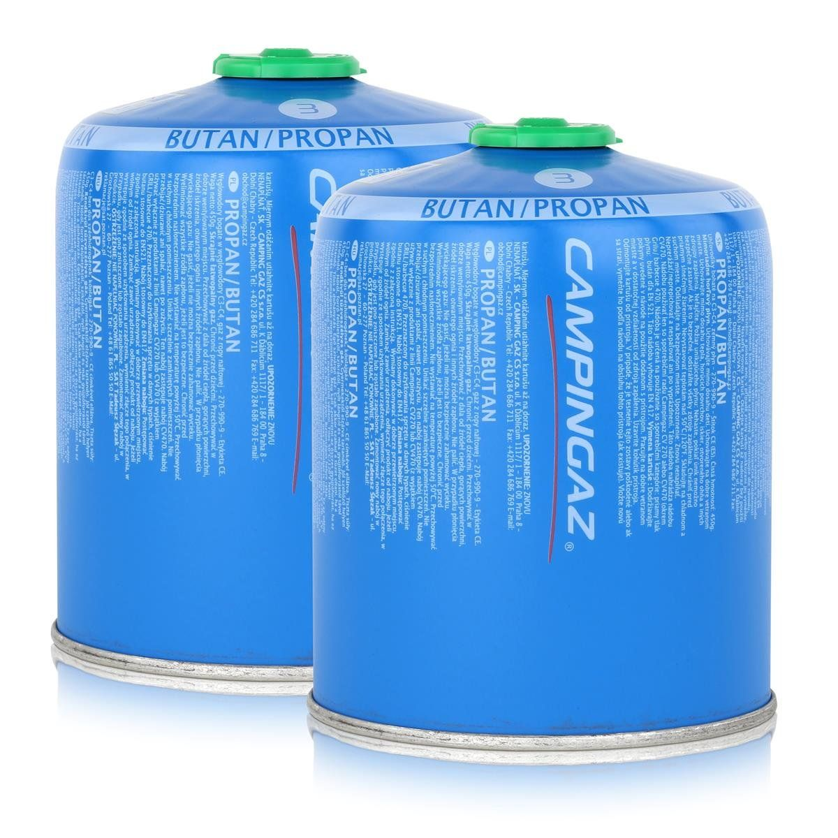 Campingaz Ventil Gaskartusche Cv470 Plus 450g Butan Propan Gas 2er Pack Propan Sicherheitsventil Grill Zubehor
