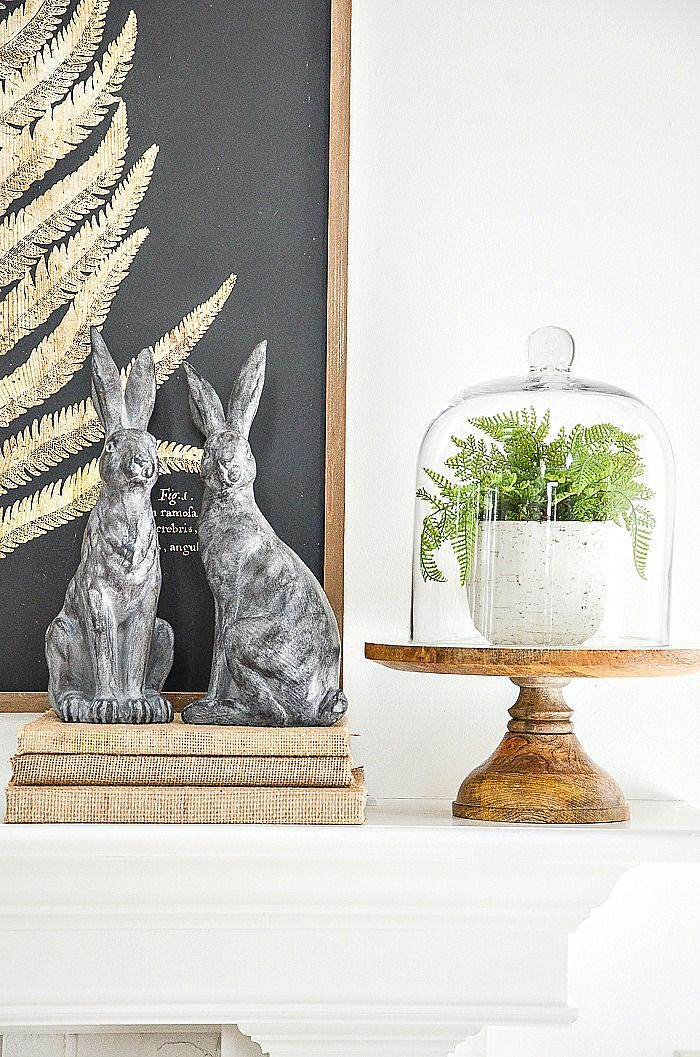 Create a beautiful spring inspired mantel or table or any flat surface with these easy, doable and savvy decorating tips. #stonegable #stonegableblog #decorating #homedecor #mantel #springmantel #springmanteldecorating #easyspringmantelideas #springmantelideas #springdecorating #springmanteldiy