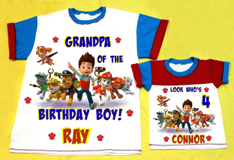 Paw Patrol Grandpa and Grandma of The Birthday Boy or Girl Shirts! by FantasyKidsDesigns on Etsy (null)
