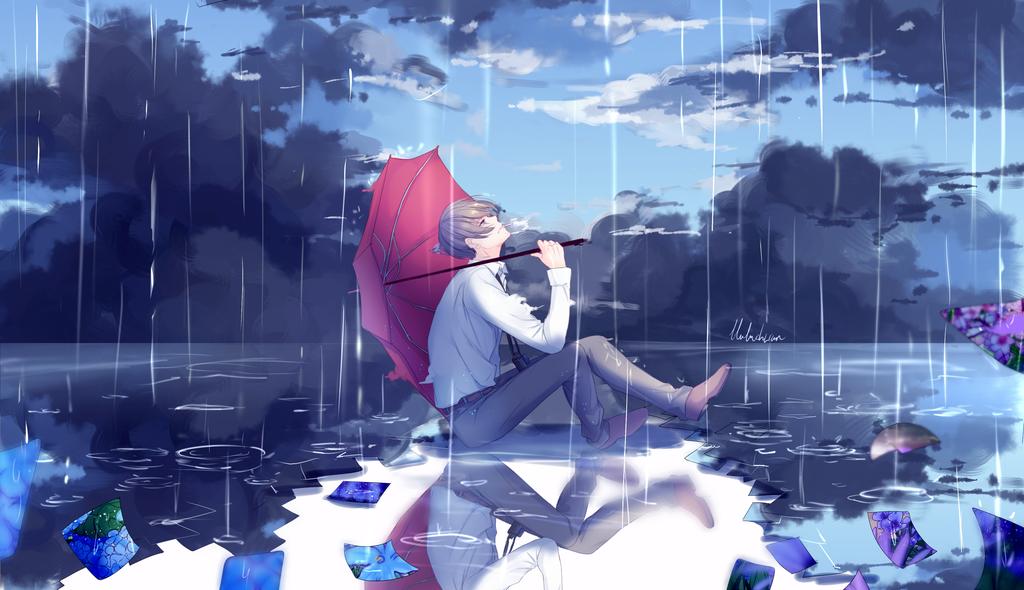 under the rain by lluluchwan on DeviantArt