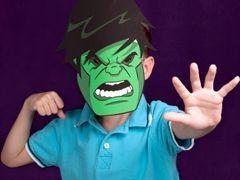 Love these Avengers superhero masks. Hulk, Iron Man, Thor, Captain America