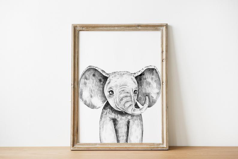 Black And White Elephant Wall Art Digital Download Printable Etsy Elephant Wall Art Elephant Nursery Prints Animal Wall Art Nursery