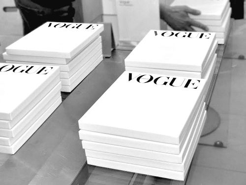 Vogue - so great, every magazine gets it's own box.