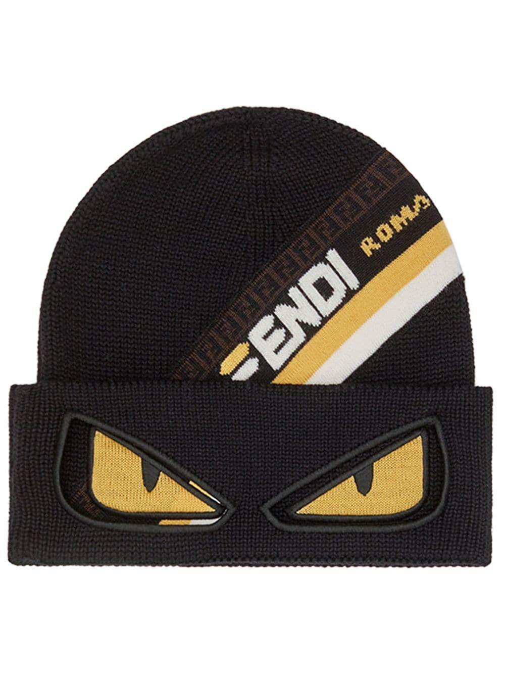 e302ec51730 FENDI FENDI FENDIMANIA BAGS BUGS HAT - BLACK. #fendi | Fendi | Bug ...
