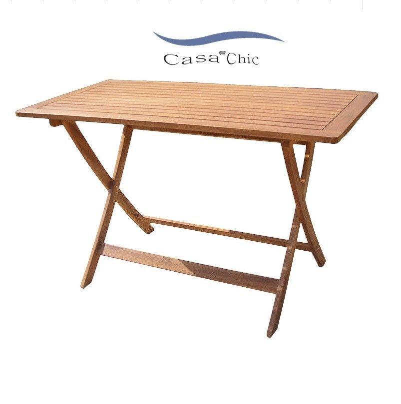 Tavoli Da Giardino Pieghevoli In Legno.Dettagli Su Tavolo Da Giardino Pieghevole 120x60x72h In Legno Di