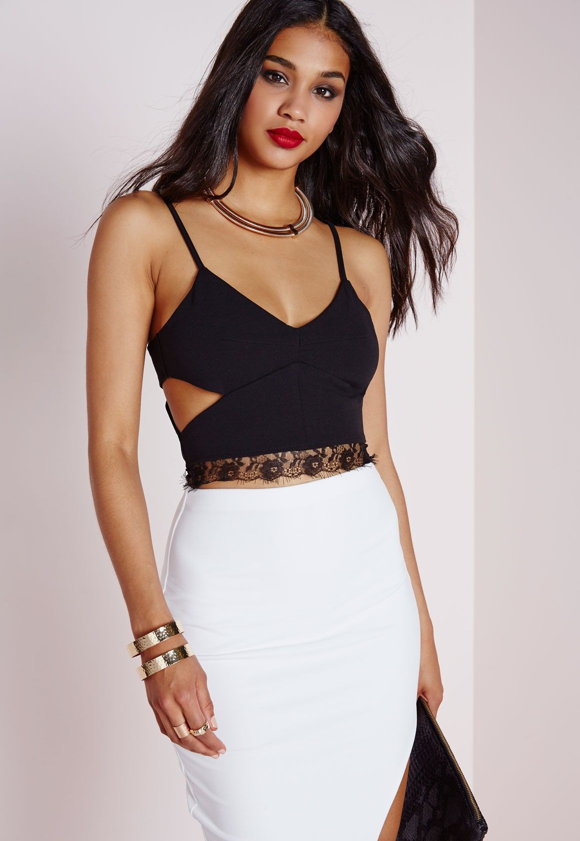 bfe7e121e30 Missguided - Cut Out Lace Bralet Black