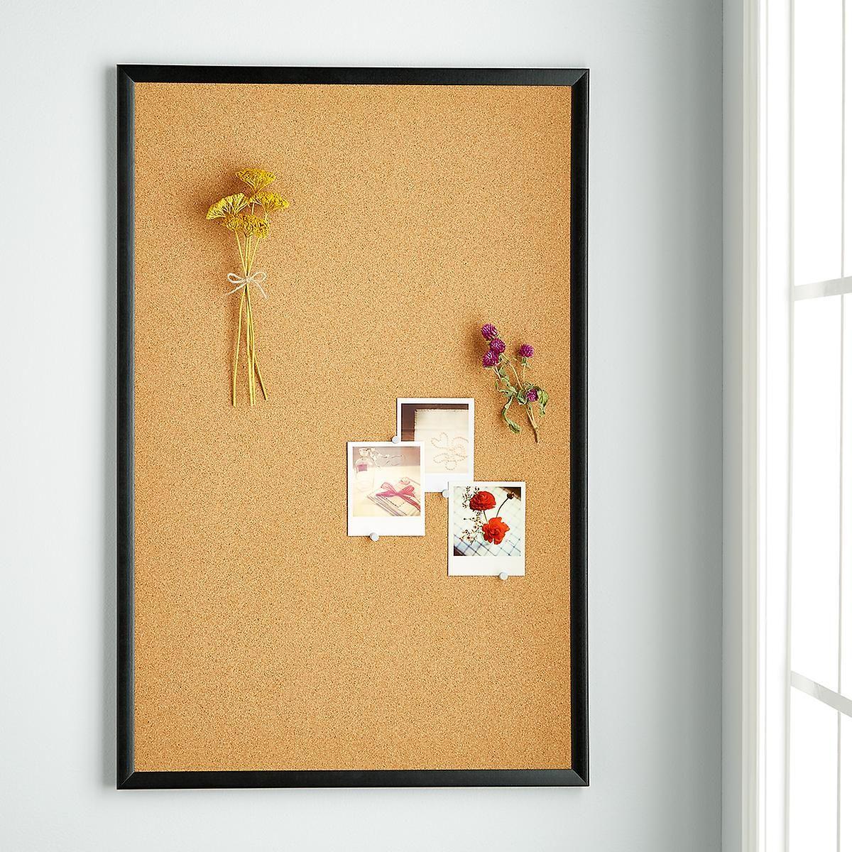 U-Brands Natural Cork Bulletin Boards With Black Frames