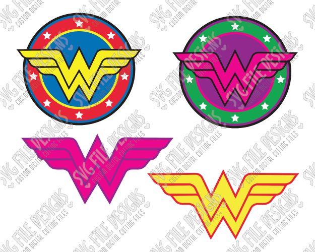 Wonder Woman Logo Svg Cut File Set For Halloween Costumes