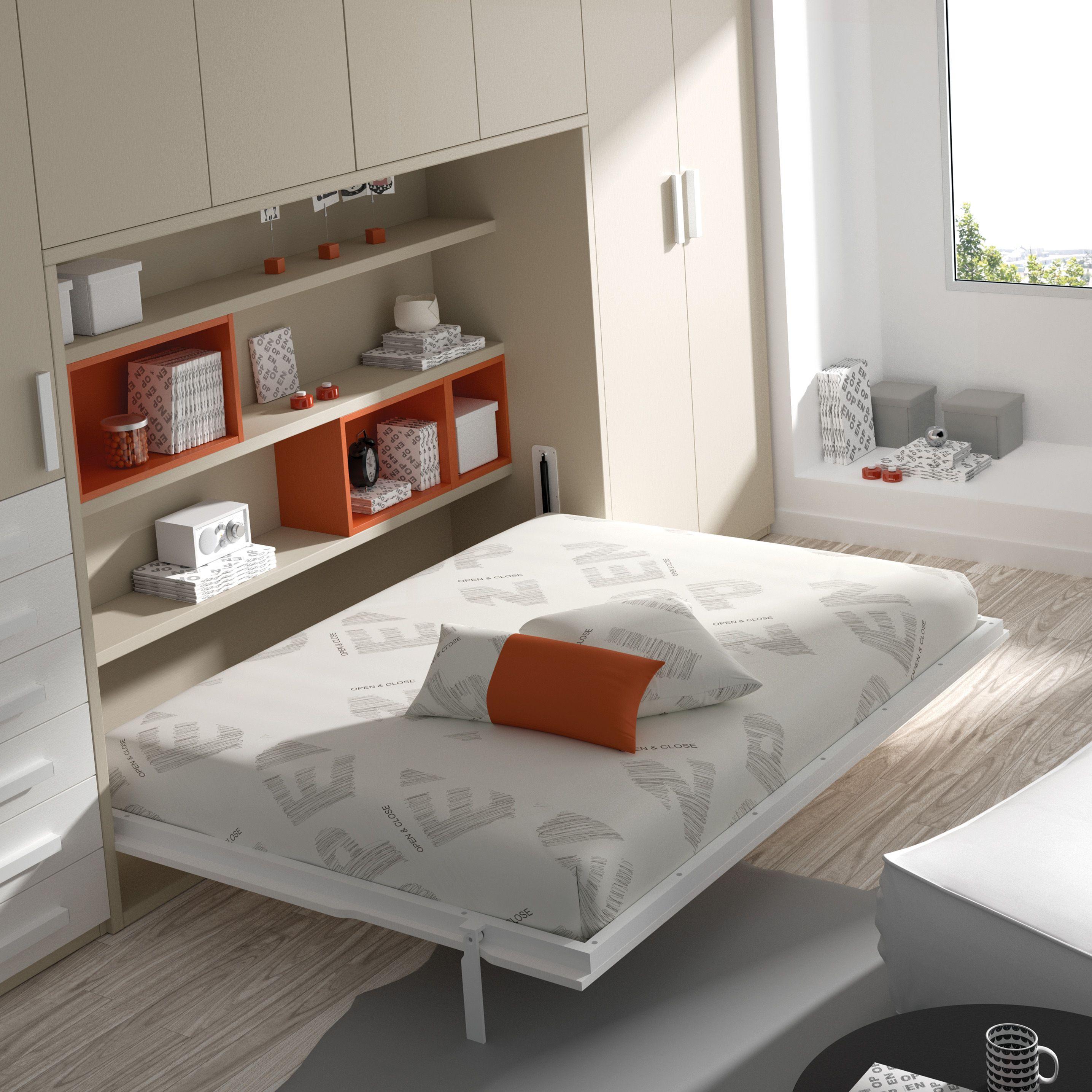Camas abatibles dise adas para dormitorios con poco - Dormitorios con poco espacio ...