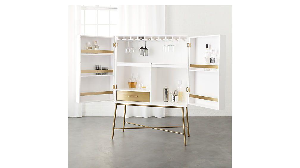 Charlene White Wine Cabinet Cb2 White Bar Cabinet Modern Storage Furniture Sleek Cabinet
