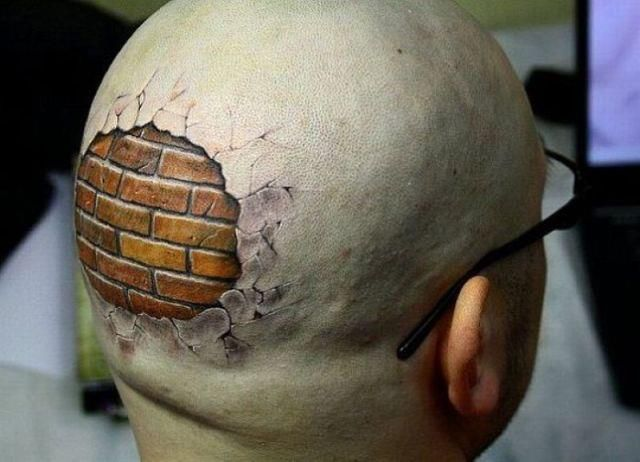 Image result for head thick as brick wall