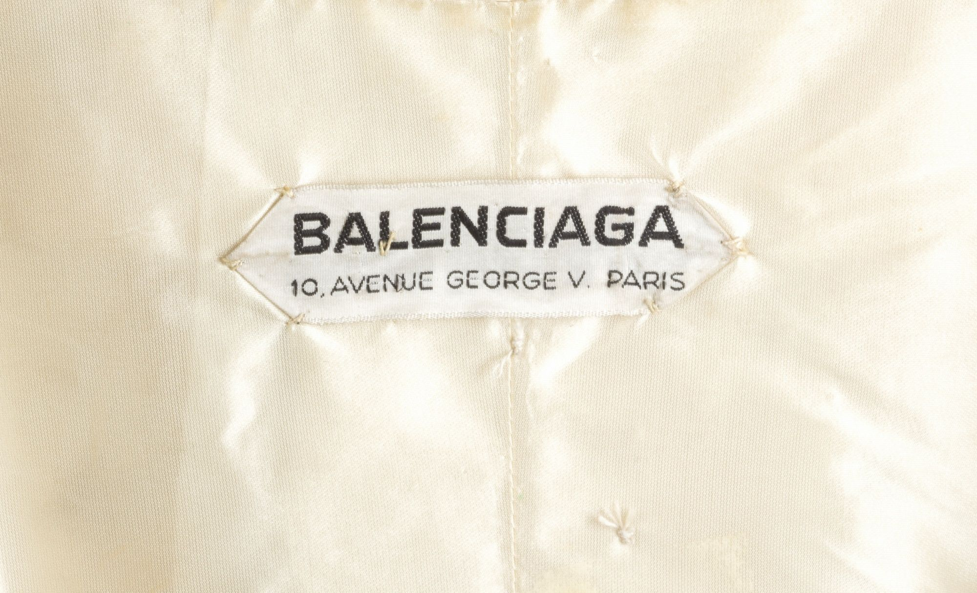 buy best pretty nice crazy price Balenciaga Haute Couture, 1958. Clothing tags and labels ...