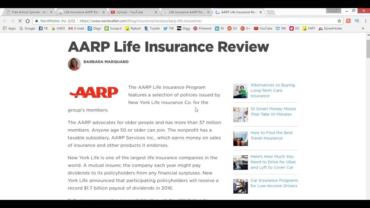 Aarp Life Insurance Quotes Pleasing Life Insurance Aarp Review Rates  Senior United Insurance