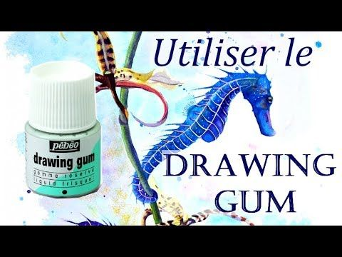 Utiliser Le Drawing Gum Aquarelles Youtube Aquarell