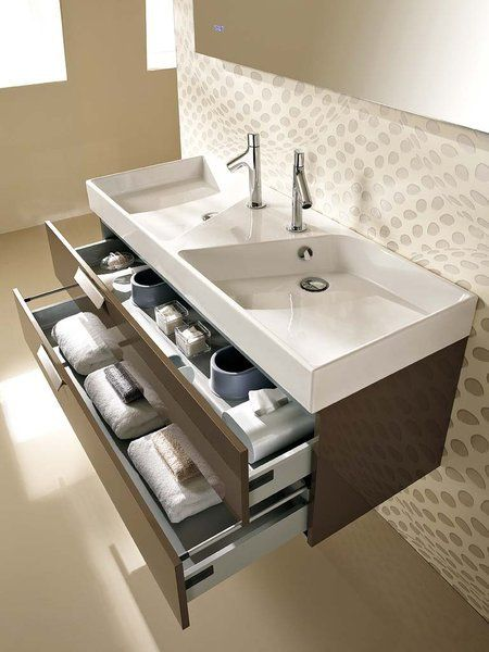 Lavabo doble plano de cer mica rythmik de jacob delafon for Lavabo doble