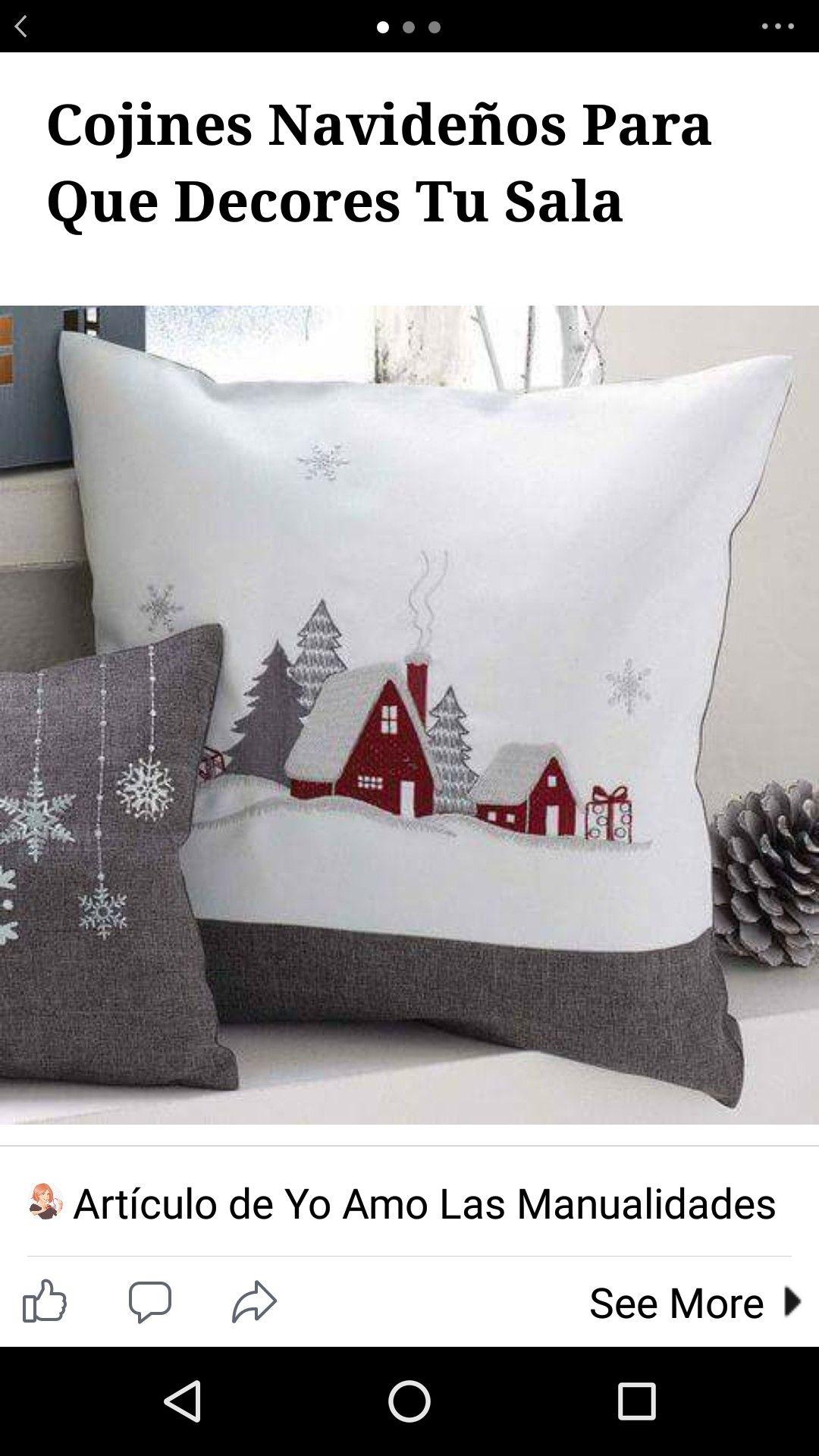 Pin by nieves valero on cojines | Christmas pillow, Xmas
