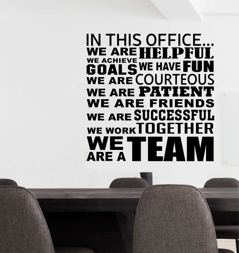 Superb In This Office Team Collage   Wall Lettering   Vinyl Office Decals