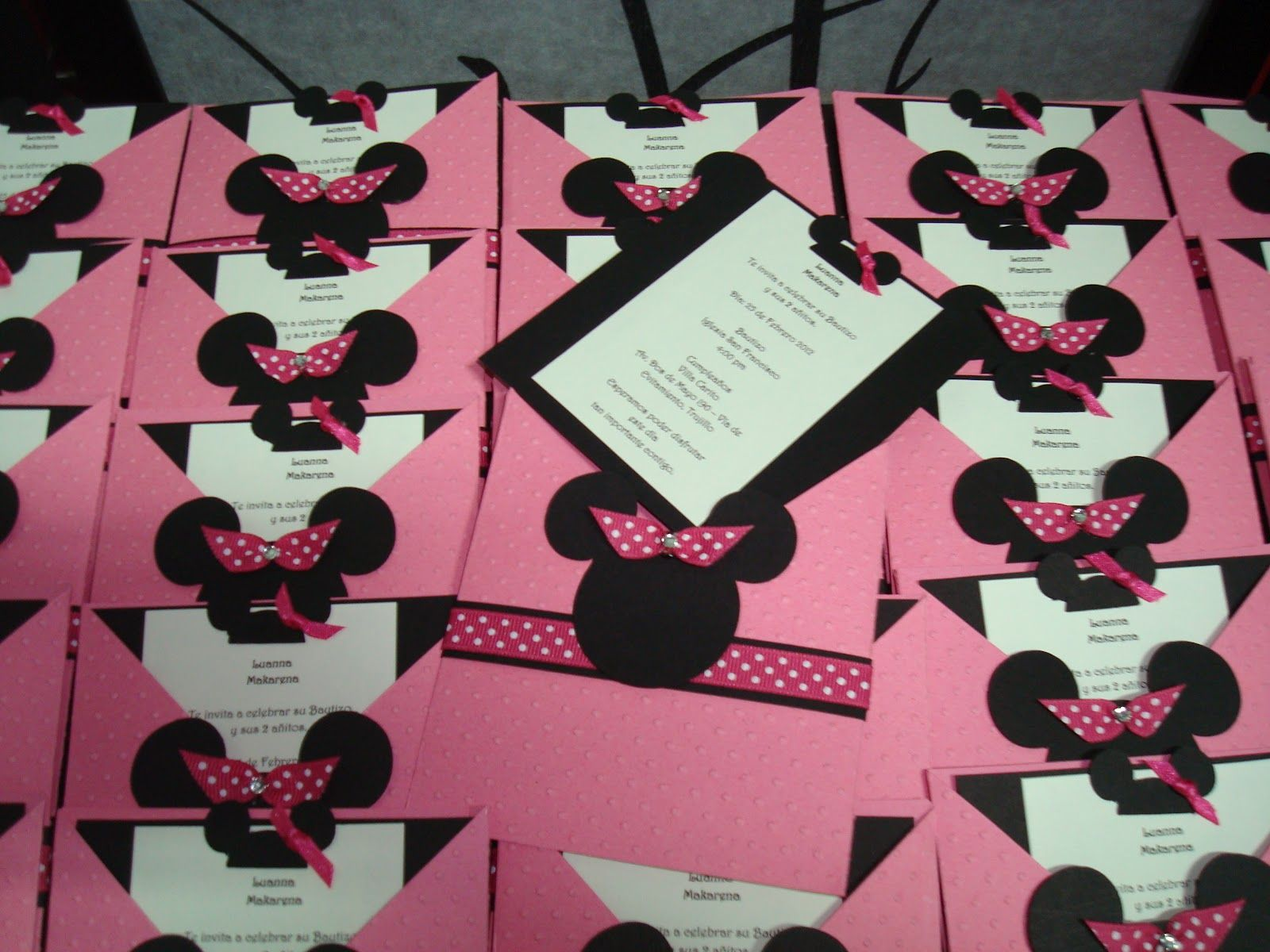 Minnie mickey invitacion imprimir 1 tarjetas cumpleanos - Cosas de minnie para cumpleanos ...
