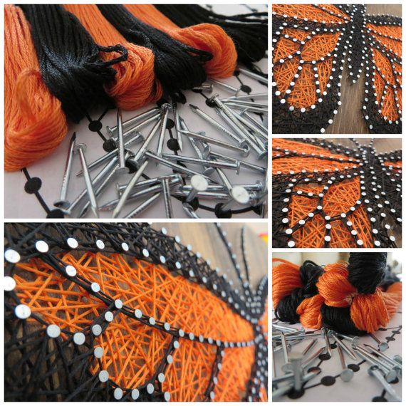 Butterfly string art kit adult crafts kit diy string art home butterfly string art kit adult crafts kit diy string art home decor diy kit crafts kit diy crafts includes all crafting suppli solutioingenieria Images