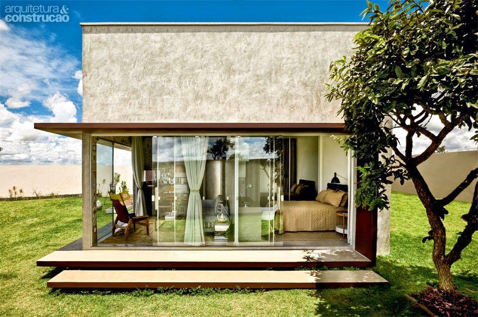 Casa t rrea pequena moderna barata projeto eduardo for Casas modernas y baratas