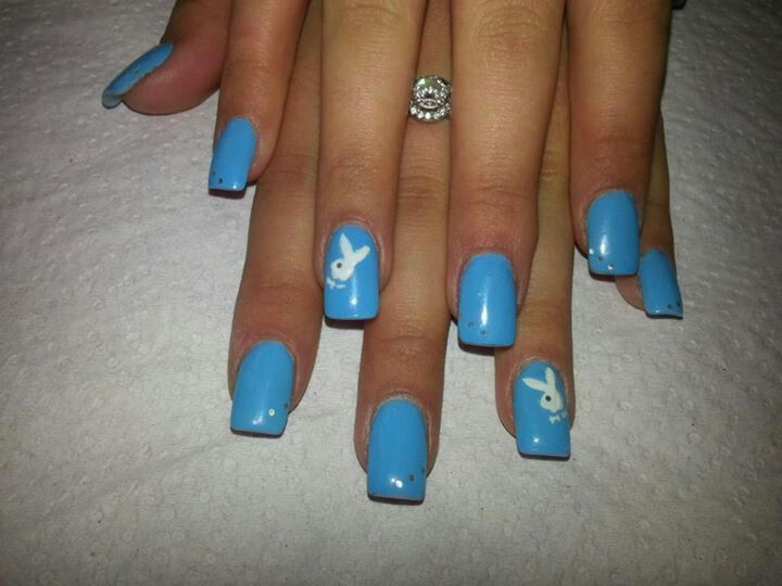 Blue and white playboy bunny sa nail academy nail art i like blue and white playboy bunny sa nail academy prinsesfo Image collections