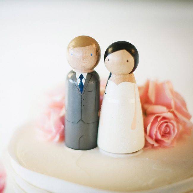 Wooden Doll Cake Toppers