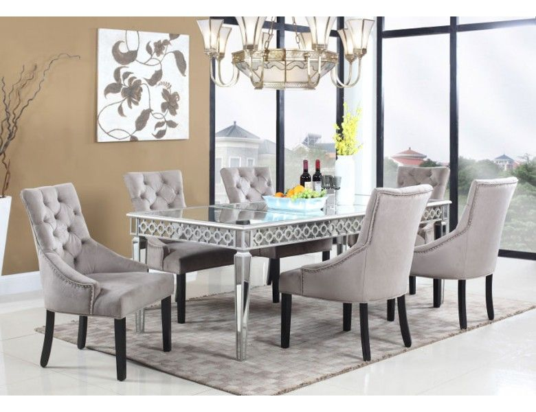 Sophie Mirrored Dining Table Mirror Dining Table Mirror Dining Room Dining Room Sets