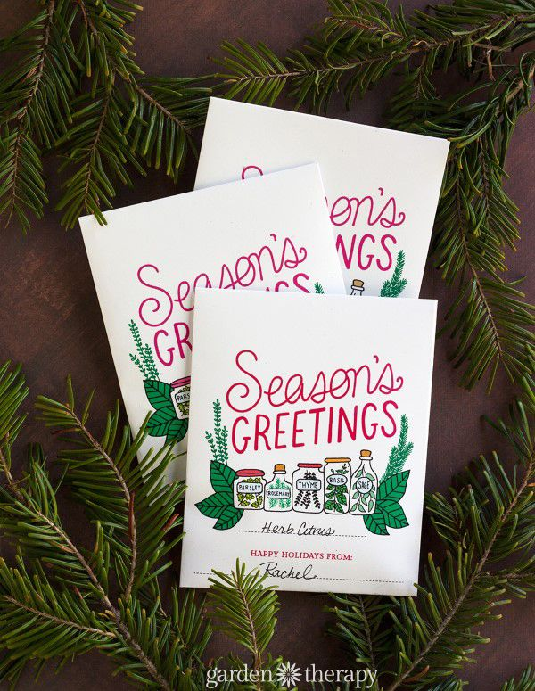Seasons greetings a kitchy printable herb packet gift idea seasons greetings printable herb packet and recipe ideas m4hsunfo
