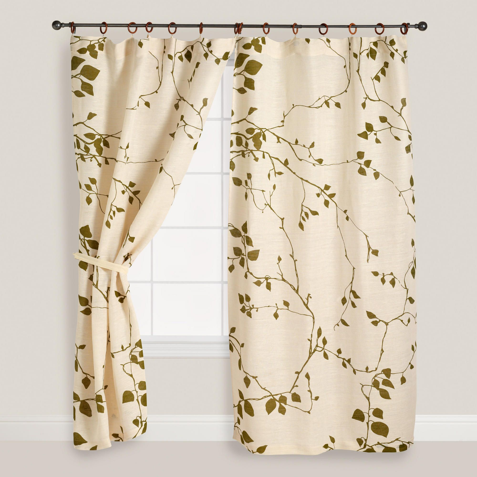 Office window coverings  lyrical branches window curtain  world market  office  pinterest