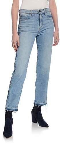 157c02df2f4 Hudson Holly High-Rise Crop Straight-Leg Jeans