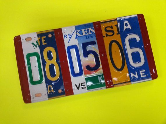 License Plate Sign U Pick States 10 Year Anniversary Gift
