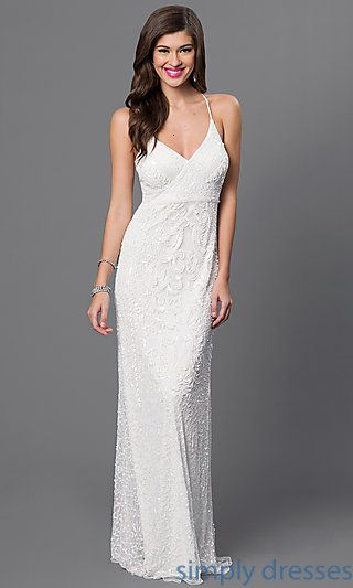 White Sequin Dress for Reception