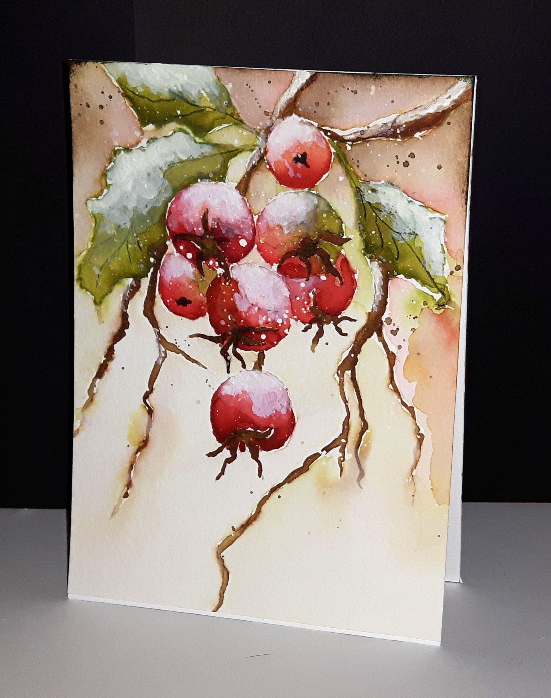 Dessine Par Micheline Mimi Jourdain Watercolor Christmas Cards