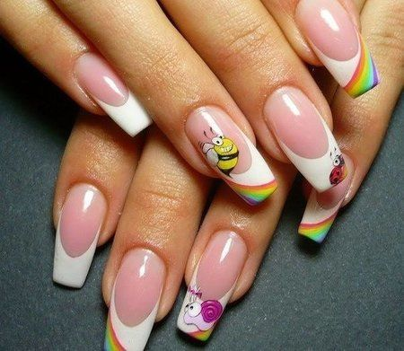 french rainbow so cute share/explore more nail looks
