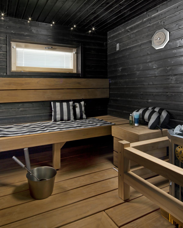 Vesiohenteisella Luonnonvahaa Sisaltavalla Supi Saunavahalla Voit Kasitella Kasittelemattomat Saunan Lauteet Paneeliseinat Ja With Images Sauna Kauniit Kodit Kaunis Koti