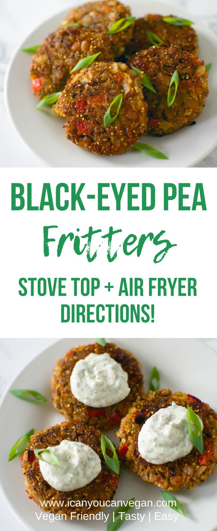 Black-Eyed Pea Fritters | ICanYouCanVegan Black-Eyed Pea Fritters #blackeyedpeasrecipe Black-Eyed Pea Fritters | ICanYouCanVegan Black-Eyed Pea Fritters #blackeyedpeasrecipe