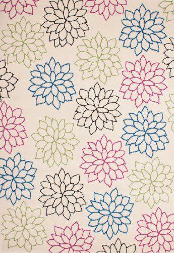 Teppich Wohnzimmer Carpet modernes Design Blumen RUG Funky 523