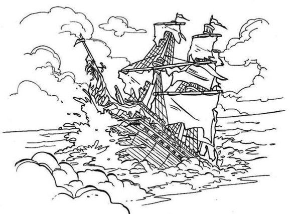 coloring pages for pirates of the carribean | Pirates of the Caribbean. Disney Coloring Page | Pirates ...