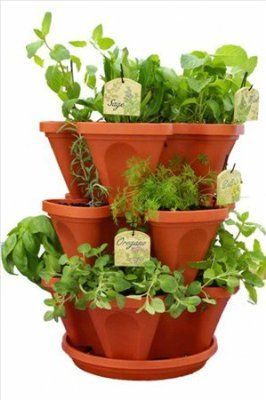 Mini Garden Stacker Planter   Stacking Gardening Pots Would Love This!