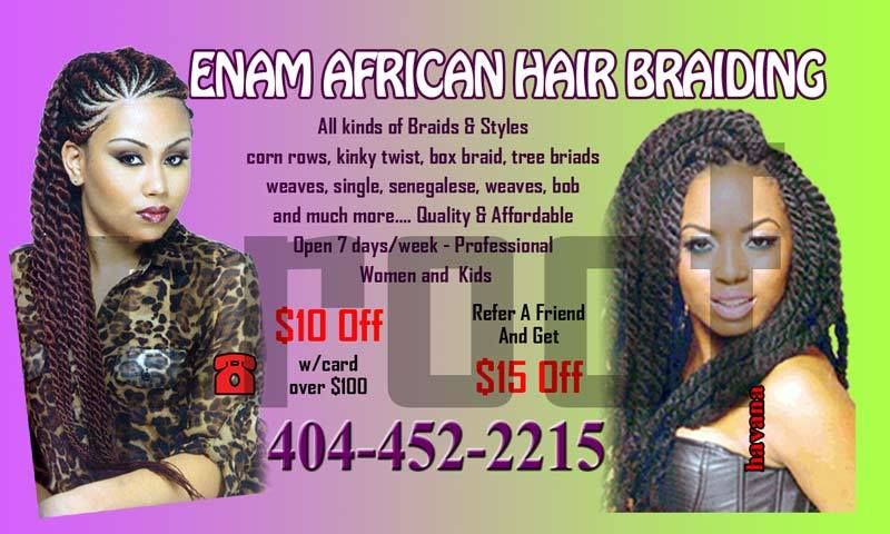 Our Business Card African Hair Braiding Braids Hairstyles Braided Cards