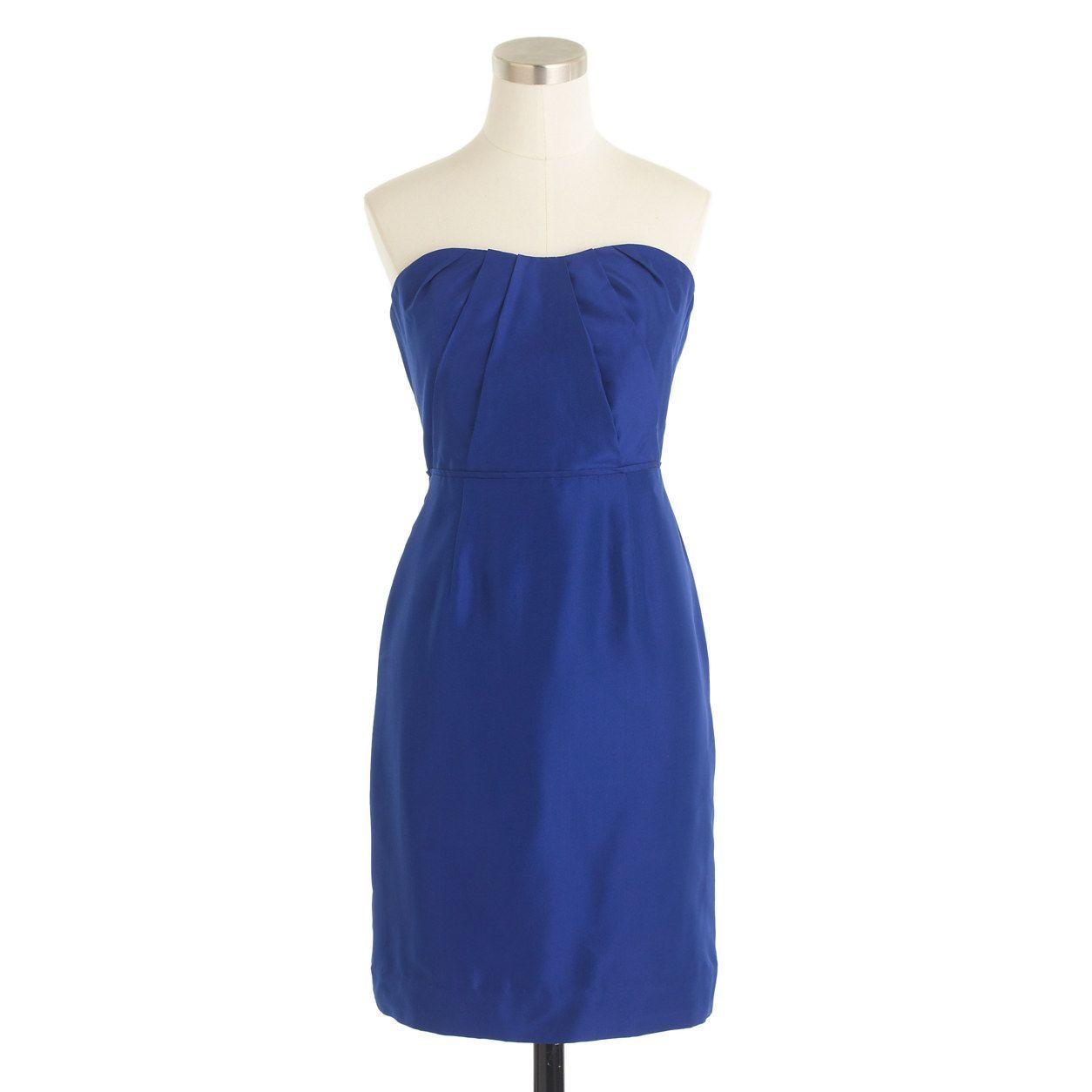 J.Crew Womens Petite Alexia Dress In Slub Silk (Size 10 Petite)